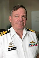 Royal Australian Navy Commander Communication Information Systems Ted Cummins at Naval Support Activity in Manama, Bahrain.
