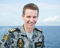Lieutenant Tim Quadrio is aboard HMAS Adelaide during Indo Pacific Endeavour 2017.
