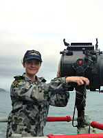 Able Seaman Communication and Information Systems Melissa Van Der Ley is serving onboard HMAS Darwin for Operation Indo-Pacific Endeavour 2017, in South East Asia.