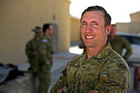 Australian Army Captain Sam Vickery is serving as the force protection officer for NATO's Train, Advise, Assist Command – South in Afghanistan.