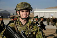 Australian Army soldier Private Jack Brien-Rowlandson is serving as a guardian angel, protecting Australian and coalition personnel in Afghanistan.