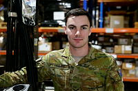Lance Corporal Joshua Molloy, an air dispatcher, is deployed to Australia's main base in the Middle East Region.