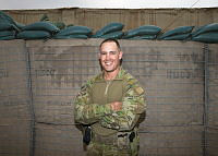Warrant Officer Class Two Tyrone Cashin is deployed with Task Group Taji's Training Task Unit at Taji Military Complex, Iraq.This is his fifth operational deployment.