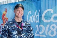 Royal Australian Air Force officer Flight Lieutenant David North is in support of the Queensland Police Service for the 2018 Gold Coast Commonwealth Games.