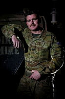 Sergeant Michael Payne, of Task Group Afghanistan, prepares for another shift in the workshops at Camp Qargha, near Kabul, while deployed on Operation Highroad.
