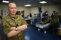 Naval Reserve medical officer Commander Neil Smith was deployed to Australia's National Command Headquarters as the Senior Medical Officer for the Australian Defence Force in the Middle East region as a part of Operation Accordion from April until June 2018.