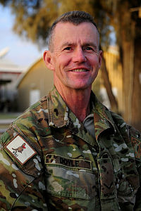 Lance Corporal (LCPL) Raymond Doyle, 52, is an Australian Army Cargo Specialist deployed on Operation SLIPPER in Afghanistan with Force Support Unit - 9 as part of the logistics element at Camp Baker, Kandahar.