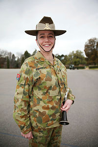 Australian Army Band Brisbane soldier Musician Karen Ruprecht with her clarinet she will play during the Australian Army Band's visit to the 2014 Basel International Tattoo, Switzerland, from July 14-26.