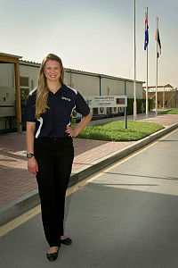 Dr Dragana Calic is the Science Advisor with Defence Science and Technology Organisation (DSTO) currently based at Headquarters Joint Task Force 633 at Camp Baird, Al Minhad Air Base, in the United Arab Emirates (UAE).