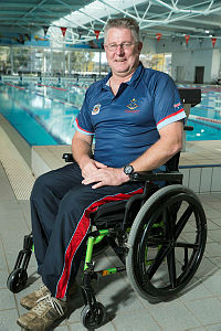 Retired Army Warrant Officer, Dennis Ramsay will be among 15 serving Defence members and 21 RSL sponsored athletes competing in the Invitcus Games in London. The war veteran served in Timor Leste (1999 and 2003), Iraq (2004) and Afghanistan (2006 -2007), will compete in the seated throws (javelin, shot put and discus) as well as wheelchair basket ball, wheel-chair rugby and seated volleyball. Dennis uses prosthetics lower legs and a wheel-chair since losing both legs to an illness after returning from Afghanistan in 2007.