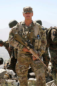 Australian Army Warrant Officer Class Two Luke Burgess is a mentor to Afghan National Army (ANA) instructors at the ANA Officer Academy