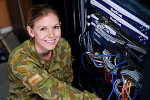 Royal Australian Air Force Communications and Information Systems Controller, Leading Aircraftswomen Emma Groth, is deployed to Operation Accordion keeping the Defence Force connected by maintaining communications systems and computerised information systems across the Middle East.
