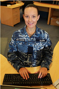 Personnel Capability Specialist Rachael Ellem from Headquarters No 453 Squadron.