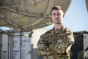 Australian Army Signaller, Corporal Ben Corsini is the Detachment Commander, Information Systems assigned to the Australian Headquarters Task Group Afghanistan based at the Hamid Karzai International Airport in Kabul, Afghanistan.