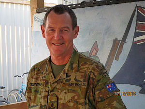 Flight Sergeant John Fountain at the Combined Air and Space Operations Centre, Middle East Region.