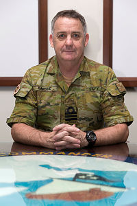 Royal Australian Navy officer Commander Terrence Garside at Naval Support Activity in Manama, Bahrain.