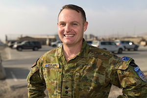 Australian Army Lieutenant Colonel Jamie McRae is deployed on Operation Highroad in Kabul, Afghanistan as an advisor to Kabul Garrison General Command.