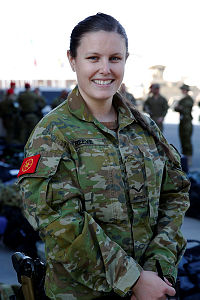 Australian Army soldier Lance Corporal Hanna Reeve, is a movements operator at Kabul airport in Afghanistan.
