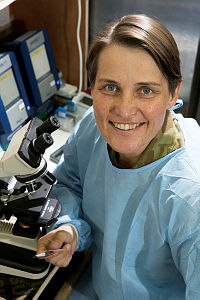 Lieutenant Kathryn Staughton is the pathologist at Task Group Taji's Role 1E Medical Facility at Taji Military Complex, Iraq.