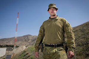 Private Tyler Lindberg, is deployed to the Force Protection Element of Task Group Afghanistan along with around 300 Australian Defence Force personnel on Operation Highroad.