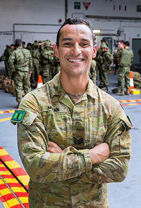 With more than 1300 multinational soldiers onboard HMAS Adelaide for Exercise Rim of the Pacific 2018, Australian Army soldier, Sergeant Josue Moran, had his work cut out for him.